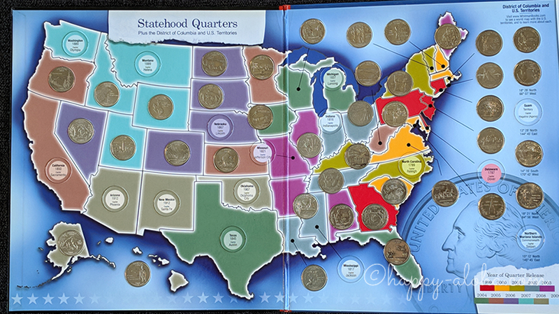 Statehood Quarters Map