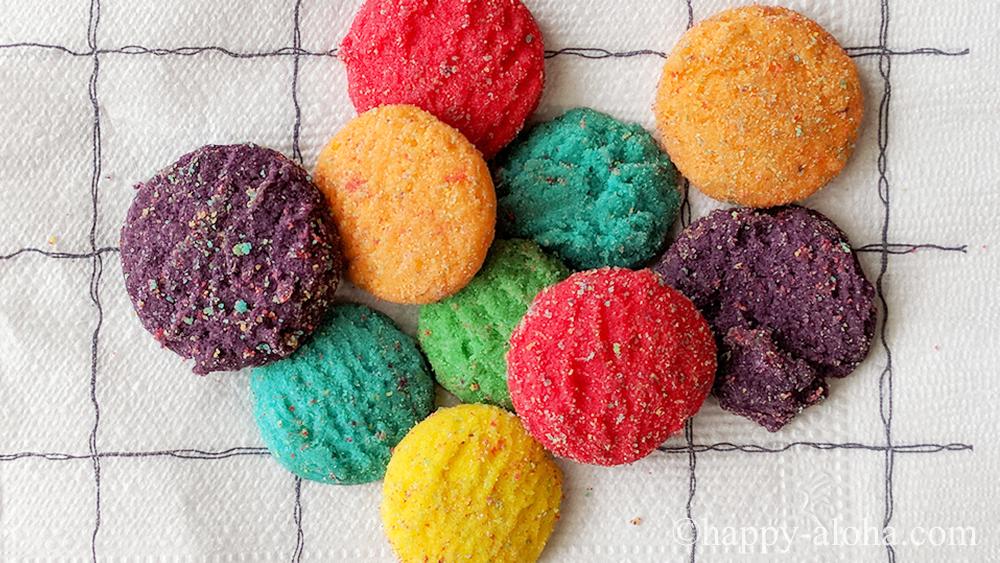 虹色のクッキー