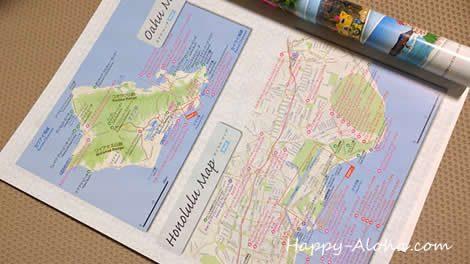 オアフ島の地図