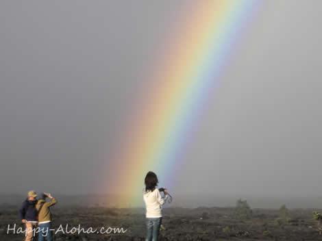 ハワイ島の虹