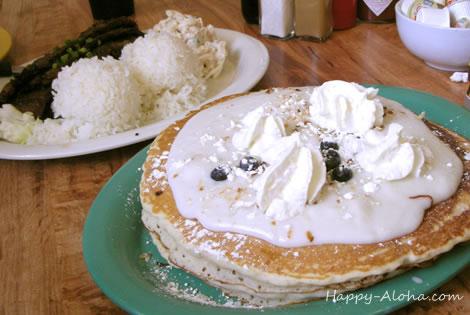 カルビプレートとパンケーキ