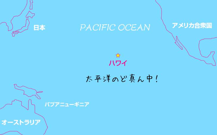 ハワイはどこ?