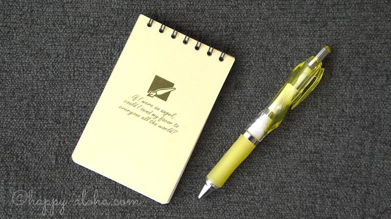 ボールペンとメモ帳