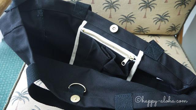 ホールフーズのトートバッグの内側