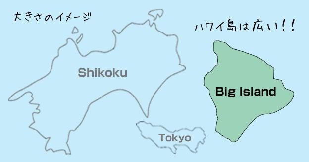ハワイ島の大きさ