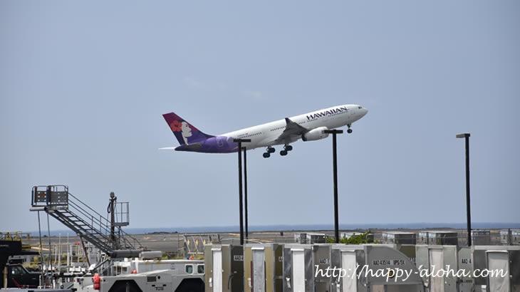 ハワイアンエアライン離陸
