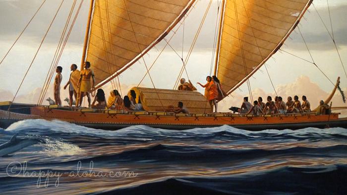ハワイに渡ってきた人々の航海