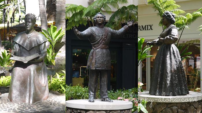 ワイキキにある銅像たち