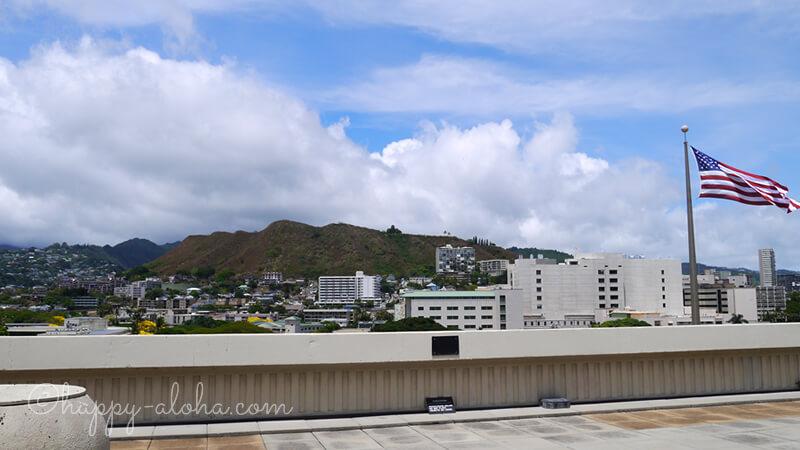 州庁舎屋上から山側