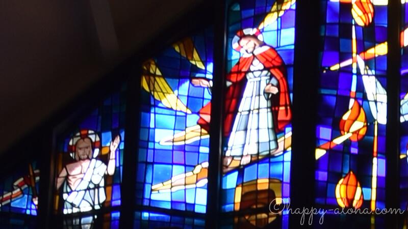 ステンドガラスのキリスト