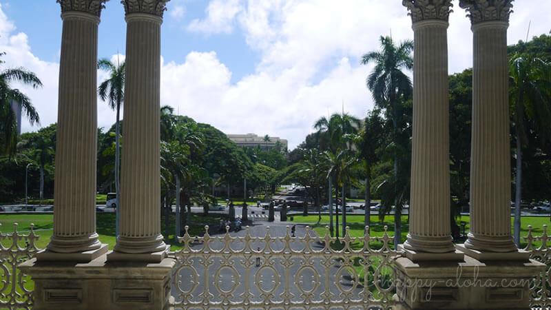 宮殿内からの風景