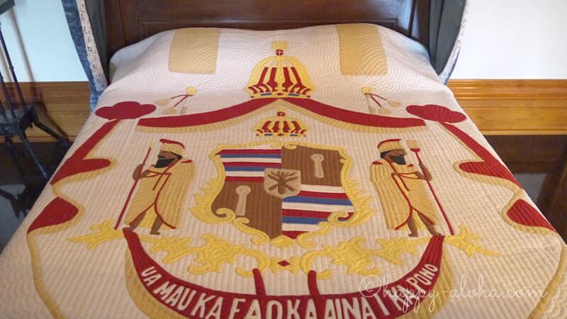 国王のベッドのキルティング