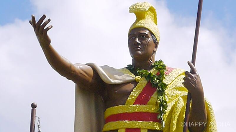 カパアウのカメハメハ大王像の顔