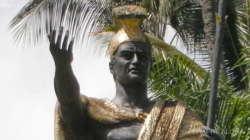 ヒロのカメハメハ大王像の顔