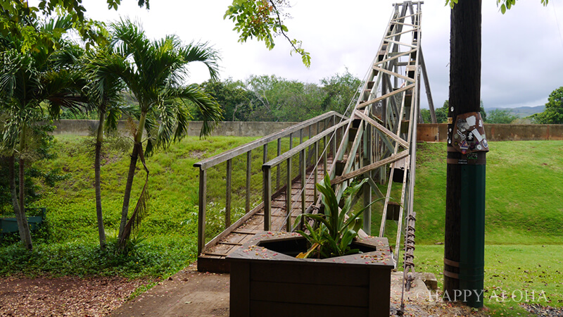 ハナペペのつり橋手前