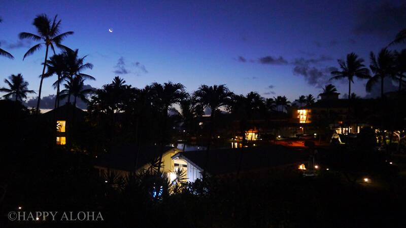 部屋からの夜の景色
