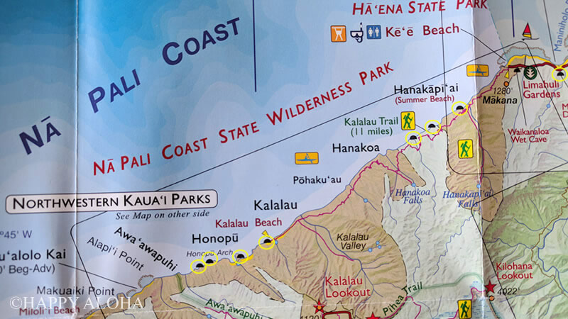 ナパリコーストの地形地図