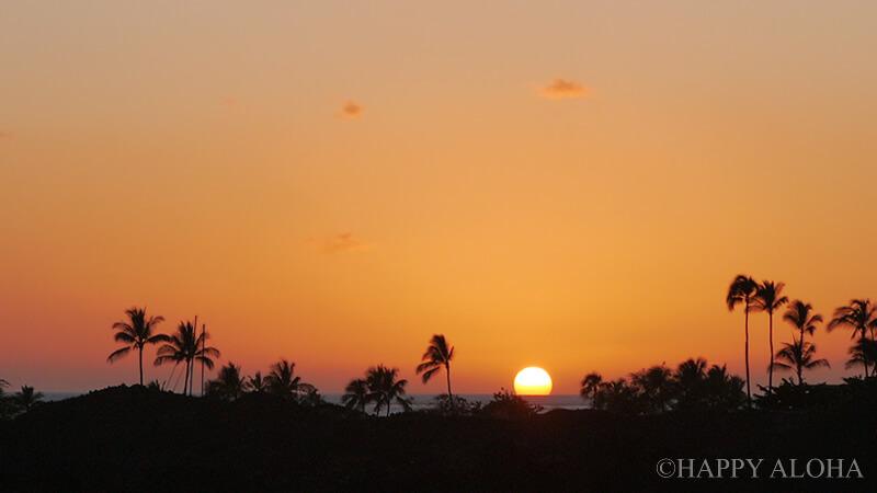 ワイコロアの夕日