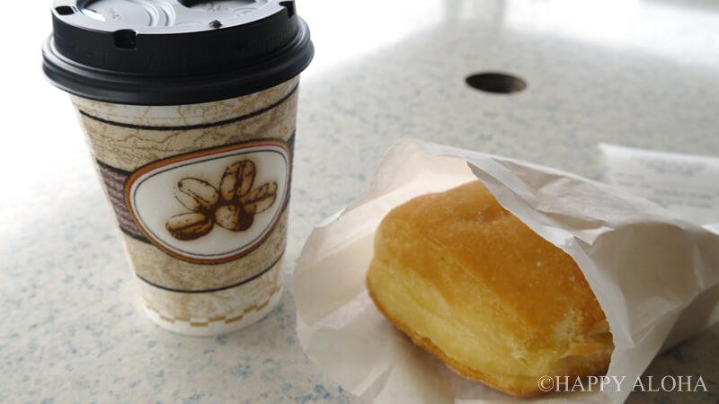 TEX DRIVEINのマラサダとコナコーヒー
